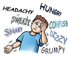 We find that Hypoglycemia is typically caused by a poor diet.